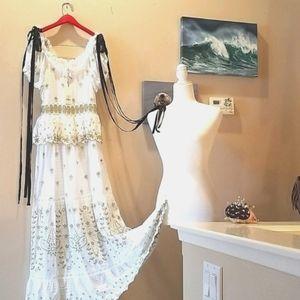 LoveShackFancy White Velvet Ribbon Kennedy Dress 2